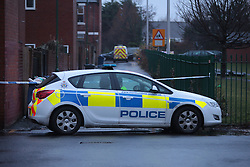 Licensed to London News Pictures. 22/12/2012. South Shields, Tyne & Wear, UK. The scene at the junction of Stanhope Road and Boldon Lane, South Shields, where a 25 year old man was fatally stabbed at around 10.36pm on Friday December 21st. Northumbria Police say that the man was approached by two people and attacked before collapsing in the street. He was taken to South Tyneside General Hospital where he was declared dead. Photo credit: Adrian Don/LNP