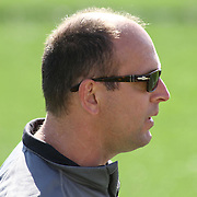 Drexel Head Coach Brian Voelker seen in the second half of a NCAA Division I Men's Lacrosse Tournament game between the No. 5 seed Denver and No. 12 ranked Drexel Sunday, May. 18, 2014 at Delaware Stadium in Newark, DEL