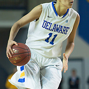 01/26/12 Newark DE: Delaware Junior Forward #11 Elena Delle Donne attempts to find the open man during a NCAA Women's College basketball game against Hofstra Thursday, Jan. 26, 2012 at the Bob carpenter center in Newark Delaware.<br /> <br /> All-American Elena Delle Donne erupted for a season-high and building record of 41 points.