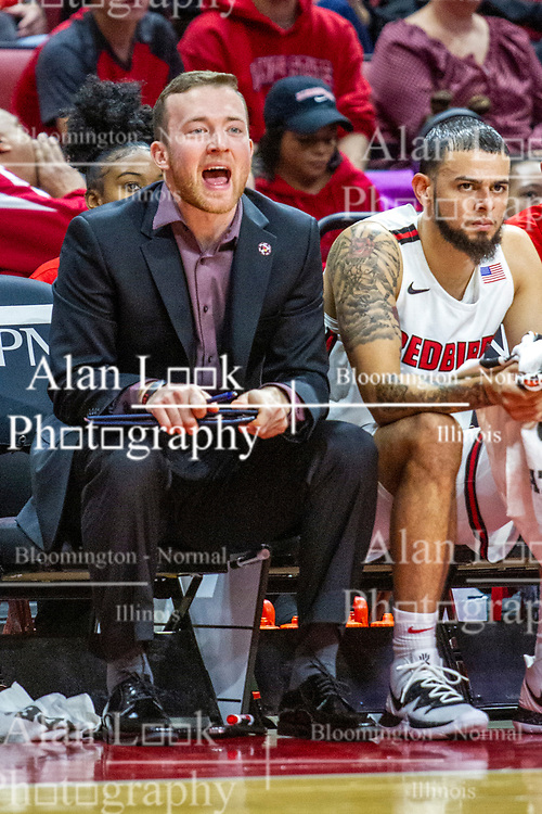 NORMAL, IL - November 10: John Putyrski during a college basketball game between the ISU Redbirds and the Little Rock Trojans on November 10 2019 at Redbird Arena in Normal, IL. (Photo by Alan Look)