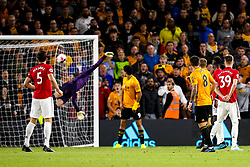 Ruben Neves of Wolverhampton Wanderers scores a goal to make it 1-1 - Mandatory by-line: Robbie Stephenson/JMP - 19/08/2019 - FOOTBALL - Molineux - Wolverhampton, England - Wolverhampton Wanderers v Manchester United - Premier League