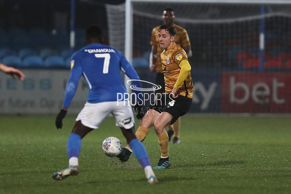 Crewe Alexandra midfielder Ryan Wintle in action during the EFL Sky Bet League 2 match between Macclesfield Town and Crewe Alexandra at Moss Rose, Macclesfield, United Kingdom on 21 January 2020.