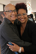 New York, NY-December 3: (L-R) Photographer George Chinsee and Author Designer Harriette Cole attends Harriette Cole's 20th Anniversary Business Celebration held at Lafayette 148 Headquarters on December 3, 2015 in New York City.  (Photo by Terrence Jennings/terrencejennings.com)
