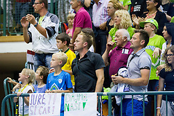 Supporters of Jure Balazic of Slovenia during friendly basketball match between National teams of Slovenia and Ukraine at day 3 of Adecco Cup 2014, on July 26, 2014 in Rogaska Slatina, Slovenia. Photo by Vid Ponikvar / Sportida.com