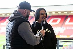 Charity hair cutting - Rogan/JMP - 30/11/2019 - Ashton Gate Stadium - Bristol, England - Bristol City v Huddersfield Town - Sky Bet Championship.