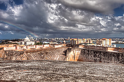 View of San Juan, Puerto Rico from Castillo de San Cristobal on Monday March 21, 2011.