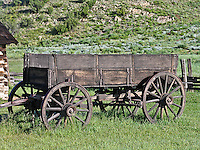 An old wagon at the 1887 homestead of Adaline Hornbek and family.  Florissant Fossil Beds National Monument, Colorado.