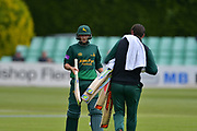 Billy Root changing bat during the Royal London 1 Day Cup match between Worcestershire County Cricket Club and Nottinghamshire County Cricket Club at New Road, Worcester, United Kingdom on 27 April 2017. Photo by Simon Trafford.