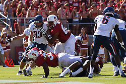 PALO ALTO, CA - OCTOBER 06: Running back Stepfan Taylor #33 of the Stanford Cardinal dives into the end zone for a touchdown against the Arizona Wildcats during the third quarter at Stanford Stadium on October 6, 2012 in Palo Alto, California. The Stanford Cardinal defeated the Arizona Wildcats 54-48 in overtime. (Photo by Jason O. Watson/Getty Images) *** Local Caption *** Stepfan Taylor