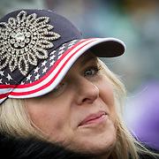 """Laura Pickett, traveled to D.C to attend the Inauguration of Donald Trump as the 45th President of the United States, January 20, 2017.  She expressed hopes that """"...there's a political reset...I hope America is first again...this [country] went too far in one direction and I hope we can move back toward the center...""""  She admitted to hoping President Obama would've delivered on some of his promises, """"...but it didn't happen...I don't want a wall, but I do want more border security..."""" .  John Boal Photography"""