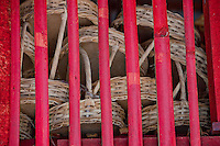 Bamboo bars and woven baskets in Klungklung, Bali, Indonesia
