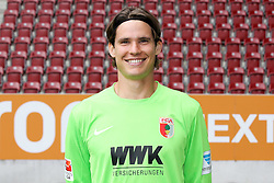 08.07.2015, WWK Arena, Augsburg, GER, 1. FBL, FC Augsburg, Fototermin, im Bild Marwin Hitz #35 (FC Augsburg) // during the official Team and Portrait Photoshoot of German Bundesliga Club FC Augsburg at the WWK Arena in Augsburg, Germany on 2015/07/08. EXPA Pictures © 2015, PhotoCredit: EXPA/ Eibner-Pressefoto/ Kolbert<br /> <br /> *****ATTENTION - OUT of GER*****