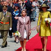 LUX/Luxembug/20180523 - Staatbezoek Luxemburg 2018 dag 1, afname erewacht Maxima en Groothertogin Maria Terea