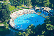 Aerial photographs of central park pool midtown Manhattan, New York, New York,