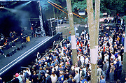 Large crowd standing in front of the stage at the Quart festival, Kristiansands Norway 2000