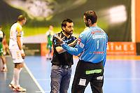 Joel Da Silva / Slavisa Djukanovic  - 01.04.2015 - Nimes / Saint Raphael - 19eme journee de Division 1<br />Photo : Andre Delon / Icon Sport