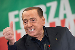 May 23, 2019, Turin, Piedmont, Italy - SILVIO BERLUSCONI during the press conference for the electoral campaign for the presentation of the list of Forza Italia candidates for the Regional Elections of Piedmont and European Elections. In the Piedmont Region in Italy the Regional Elections of Piedmont will be held on May 26, 2019 where the new governor of the Italian region will be elected while the European Elections of 2019 will be held in the 28 Member States of the European Union between May 23 and 26, will be the renewal of Members representing EU member countries. (Credit Image: © Stefano Guidi/ZUMA Wire)
