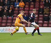 Dundee&rsquo;s Craig Wighton and Motherwell&rsquo;s Chris Cadden - Motherwell v Dundee, Fir Park, Motherwell, Photo: David Young<br /> <br />  - &copy; David Young - www.davidyoungphoto.co.uk - email: davidyoungphoto@gmail.com