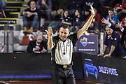 DESCRIZIONE : Campionato 2014/15 Virtus Acea Roma - Giorgio Tesi Group Pistoia<br /> GIOCATORE : Emanuele Aronne<br /> CATEGORIA : Arbitro Referee Mani<br /> SQUADRA : AIAP<br /> EVENTO : LegaBasket Serie A Beko 2014/2015<br /> GARA : Dinamo Banco di Sardegna Sassari - Giorgio Tesi Group Pistoia<br /> DATA : 22/03/2015<br /> SPORT : Pallacanestro <br /> AUTORE : Agenzia Ciamillo-Castoria/GiulioCiamillo<br /> Predefinita :