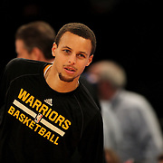 Steph Curry, Golden State Warriors, warming up before playing against the New York Knicks. NBA Basketball. Madison Square Garden, New York. USA.  Photo Tim Clayton