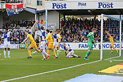 Millwall's Tony Craig(5) scores a goal 0-2 and celebrates during the EFL Sky Bet League 1 match between Bristol Rovers and Millwall at the Memorial Stadium, Bristol, England on 30 April 2017. Photo by Shane Healey.