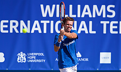 LIVERPOOL, ENGLAND - Sunday, June 24, 2018: Robert Kendrick (USA), wearing an Everton kit, during day four of the Williams BMW Liverpool International Tennis Tournament 2018 at Aigburth Cricket Club. (Pic by Paul Greenwood/Propaganda)