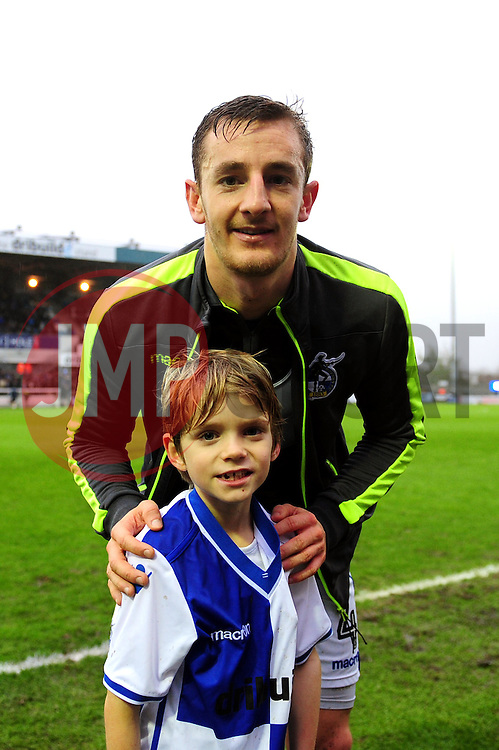 Mascot with Tom Lockyer of Bristol Rovers - Mandatory by-line: Dougie Allward/JMP - 10/12/2016 - FOOTBALL - Memorial Stadium - Bristol, England - Bristol Rovers v Bury - Sky Bet League One