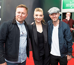 Edinburgh International Film Festival, Tuesday, 26th June 2018<br /> <br /> IN DARKNESS (EUROPEAN PREMIERE)<br /> <br /> Pictured: Director of Photography Si Bell, Natalie Dormer and director Anthony Byrne<br /> <br /> (c) Alex Todd | Edinburgh Elite media