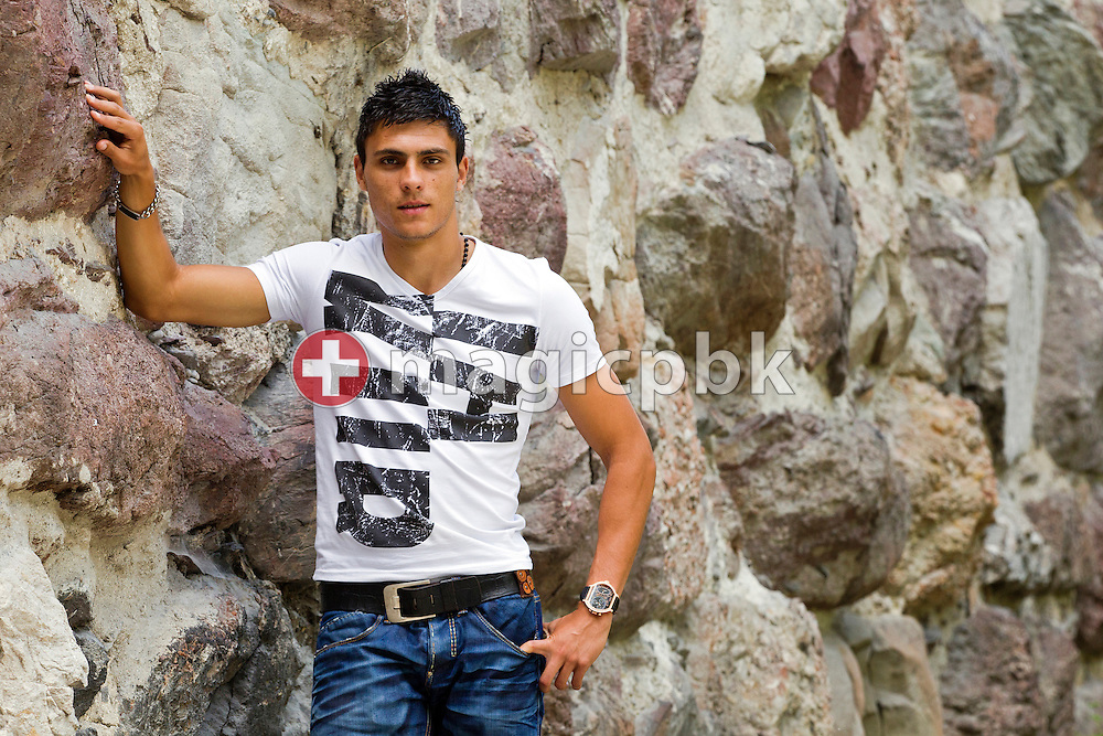 FC Zurich's soccer player Jorge (Tex) TEIXEIRA of Portugal is pictured during a photo session in front of the Hardturm on the left bank of the river Limmat in Zurich, Switzerland, Monday, July 26, 2010. (Photo by Patrick B. Kraemer / MAGICPBK)