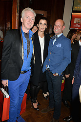 Left to right, PHILIP TREACY, PRINCESS ROSARIO OF BULGARIA and STEFAN BARTLETT at a party to celebrate the launch of the Maison Assouline Flagship Store at 196a Piccadilly, London on 28th October 2014.  During the evening Valentino signed copies of his new book - At The Emperor's Table.