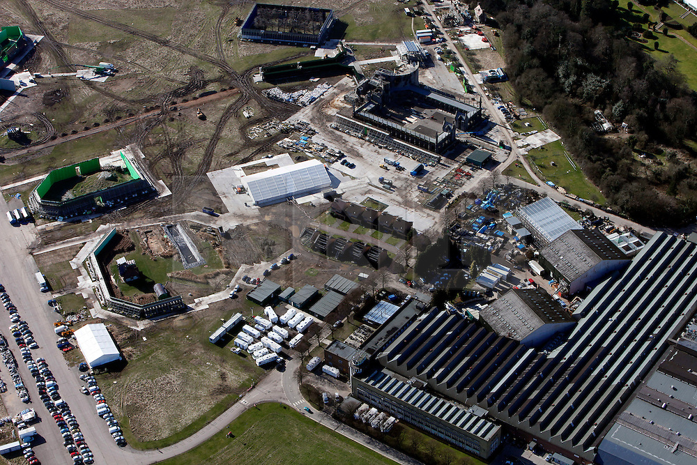 © under license to London News Pictures.  12.11.10.Stock aerial view of Leavesden Studios, Watford, Hertfordshire Leavesden Studios which has been used to film all six of the Harry Potter movies so far, as well as  The Dark Knight, GoldenEye and Star Wars Episode I..The former aerodrome 300 acre site and backlot has been sold to Warner Bros for £22 million intends to refurbish and extend the production facilities, animatronics, film editing investing and a visitor centre investing £100 million. The site is dues to open in Summer 2012.