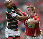 Leicester,  Great Britain, Llanelli Scarlets, Matt Rees, hand's of Tigers, Tom Vandell,  during the Heineken Cup Semi Final, Leicester Tigers vs Llanelli Scarlets played at the Walker Stadium, on Sat. 21.04.2007. [Photo Peter Spurrier/Intersport Images]