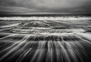 Waves breaking on Drakes Beach, Point Reyes National Seashore, Marin County, California