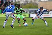 Forest Green Rovers Drissa Traoré(4) controls the ball during the Vanarama National League match between Forest Green Rovers and Chester FC at the New Lawn, Forest Green, United Kingdom on 14 April 2017. Photo by Shane Healey.