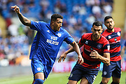 Nathaniel Mendez-Laing of Cardiff City during the EFL Sky Bet Championship match between Cardiff City and Queens Park Rangers at the Cardiff City Stadium, Cardiff, Wales on 26 August 2017. Photo by Andrew Lewis.