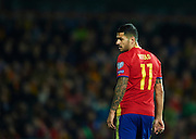 "GRANADA, SPAIN - NOVEMBER 12:  Victor Machin Perez ""Vitolo"" of Spain looks on  during the FIFA 2018 World Cup Qualifier between Spain and FYR Macedonia at  on November 12, 2016 in Granada, .  (Photo by Aitor Alcalde Colomer/Getty Images)"