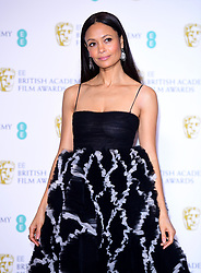 Thandie Newton in the press room at the 72nd British Academy Film Awards held at the Royal Albert Hall, Kensington Gore, Kensington, London.