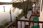 Napa River Inn, Napa, California. Napa Valley. The Inn sits within the walls of the historic 1884 Napa Mill on the Napa River. The hotel is pet friendly: it allows dogs in the rooms..