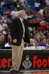 October 23, 2009; Sacramento, CA, USA;  Utah Jazz head coach Jerry Sloan argues a call during the third quarte against the Sacramento Kings at the ARCO Arena.  The Jazz won 95-85.