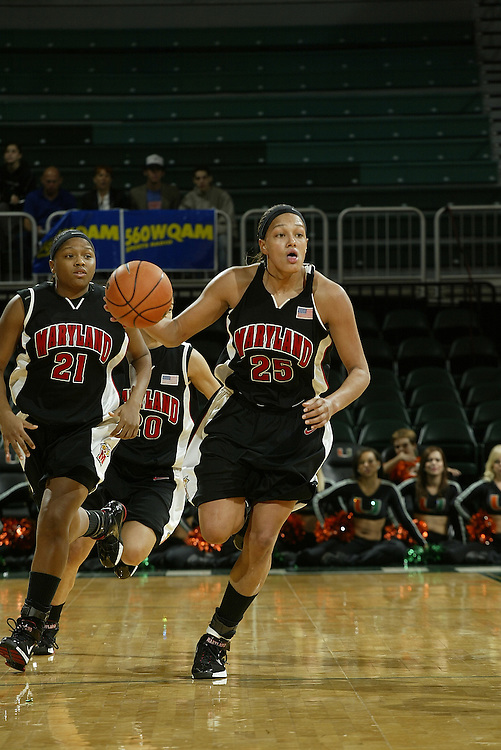 University of Maryland guard Marissa Coleman in action during the Terrapins 111-53 victory over the Miami Hurricanes on January 10, 2007 at the BankUnited Center in Coral Gables, Florida.