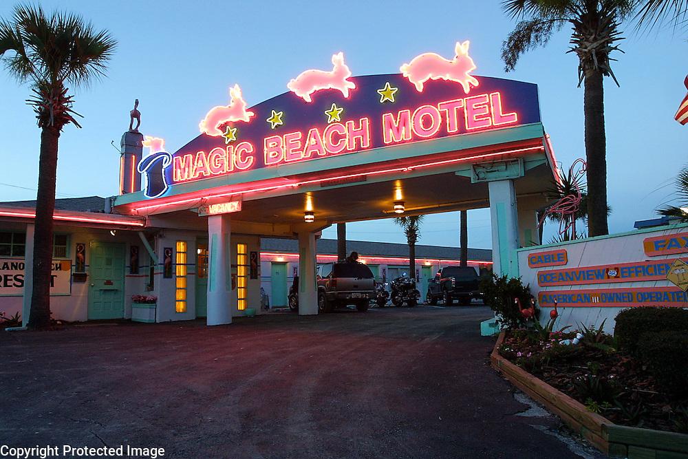The art deco Magic Beach Motel in St. Augustine, Florida