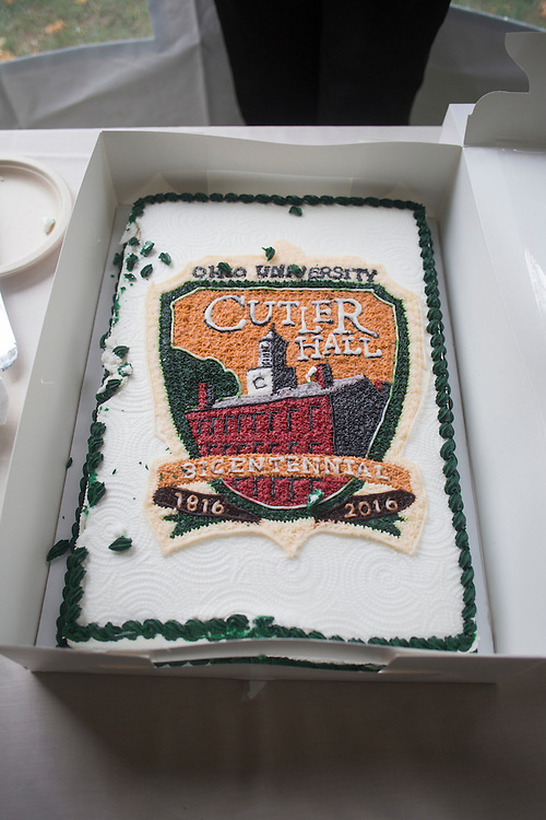Cake for the Cutler Hall Bicentennial celebration on October 21, 2016