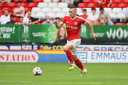 Charlton Athletic midfielder Andrew Crofts (8) dribbling during the EFL Sky Bet Championship match between Charlton Athletic and Bolton Wanderers at The Valley, London, England on 27 August 2016. Photo by Matthew Redman.