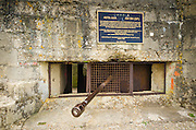 WWII German bunker on Omaha Beach, Normandy, France