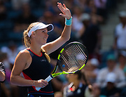 Caroline Wozniacki of Denmark in action during the first round of the 2018 US Open Grand Slam tennis tournament, at Billie Jean King National Tennis Center in Flushing Meadow, New York, USA, August 28th 2018, Photo Rob Prange / SpainProSportsImages / DPPI / ProSportsImages / DPPI