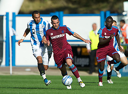 HUDDERSFIELD, ENGLAND - Saturday, September 10, 2011: Tranmere Rovers' Robbie Weir in action against Huddersfield Town during the Football League One match at the McAlpine Stadium. (Photo by Dave Kendall/Propaganda)