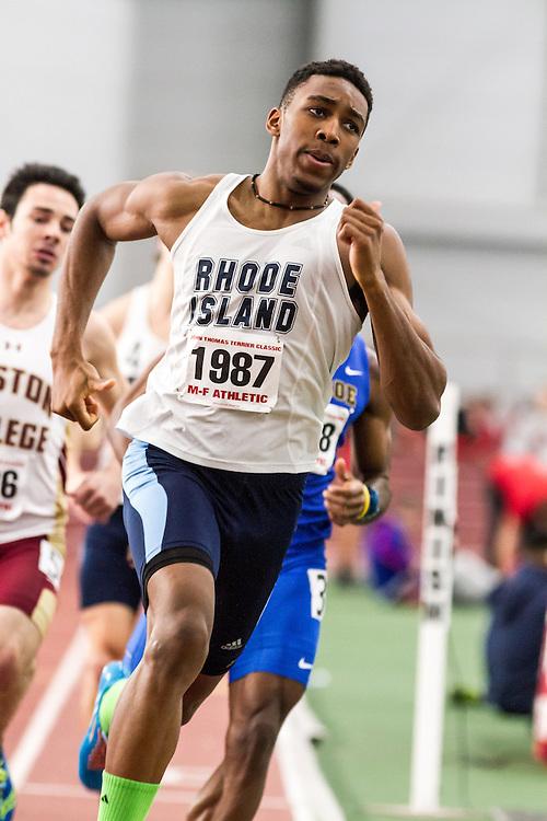 Boston University John Terrier Classic Indoor Track & Field: mens 500 meters, heat 3, Mantague, Rhode Island