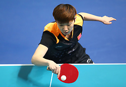 February 23, 2018 - London, England, United Kingdom - Shiwen LIU of China .during 2018 International Table Tennis Federation World Cup match between Shiwen LIU of China  against Yue WU of USA at Copper Box Arena, London  England on 23 Feb 2018. (Credit Image: © Kieran Galvin/NurPhoto via ZUMA Press)