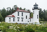 Admiralty Head Lighthouse was built in 1890 to help guide ships into Puget Sound, and became obsolete in 1927 when its lantern was removed. Fort Casey State Park is part of Ebey's Landing National Historical Reserve, Whidbey Island, Washington, USA.