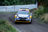 2019-09-07 | Linköping, Sweden: Anton Eriksson / Lars Andersson during East Rally Sweden / Rally SM  at Linköping ( Photo by: Simon Holmgren | Swe Press Photo )<br /> <br /> Keywords: Linköping, Linköping, Rally, East Rally Sweden / Rally SM, ,